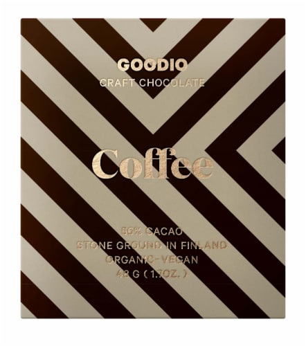 Goodio Chocolate 56% Cacao Coffee Chocolate Perspective: front