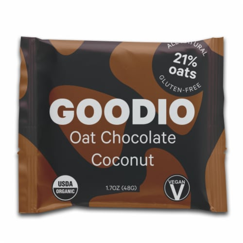 Goodio Handmade Oat Chocolate & Coconut Bar Perspective: front