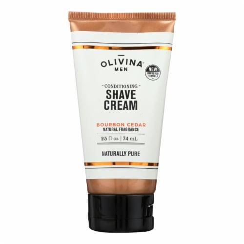 Olivina Men - Shave Cream Bourbon Cedar - 2.5 OZ Perspective: front