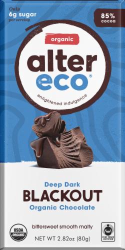 Alter Eco Organic Deep Dark Blackout Chocolate Bar Perspective: front