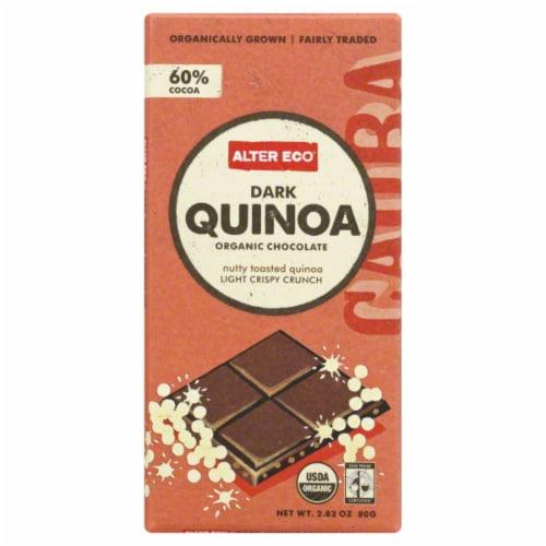 Alter Eco Dark Quinoa Chocolate Bar Perspective: front