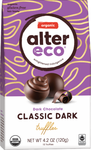 Alter Eco Organic Classic Dark Chocolate Truffles Perspective: front