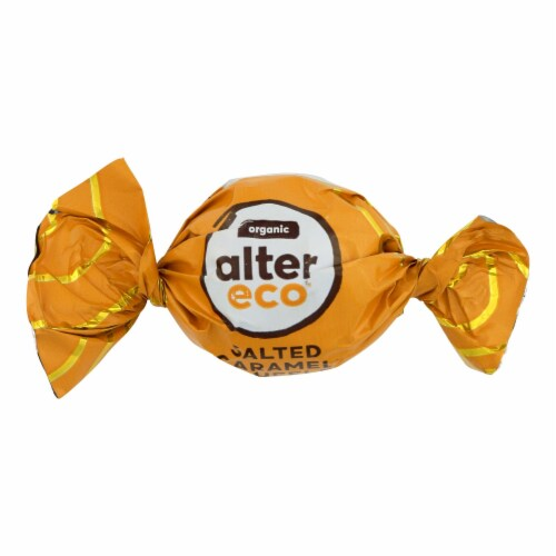 Alter Eco Americas Organic Truffles - Salted Caramel - .42 oz - Case of 60 Perspective: front