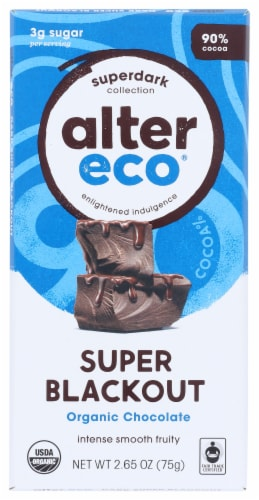 Alter Eco Organic Super Blackout Chocolate Bar Perspective: front