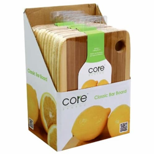 Core Home 220770 6 x 8 in. Bamboo Cut Board Perspective: front