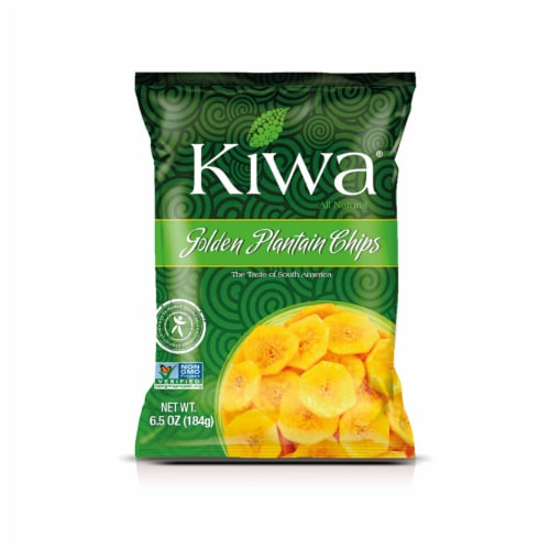 KIWA Golden Plantain Chips 6.5 Oz (5 Pack) Perspective: front
