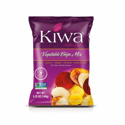 KIWA Vegetable Chips  5.25oz (5 Pack) Perspective: front