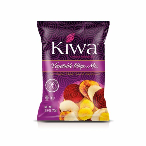 KIWA Vegetable Chips 2.5 Oz  (6 Pack) Perspective: front