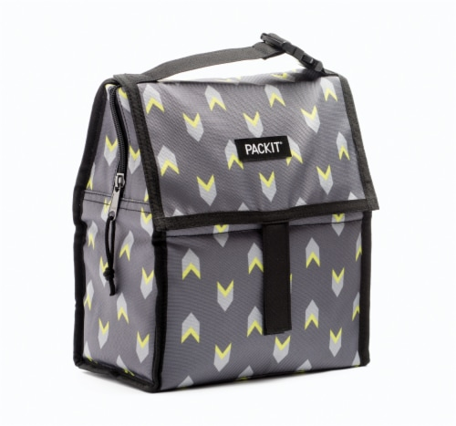 Packit Insulated Lunch Bag - Lime Arrow Perspective: front