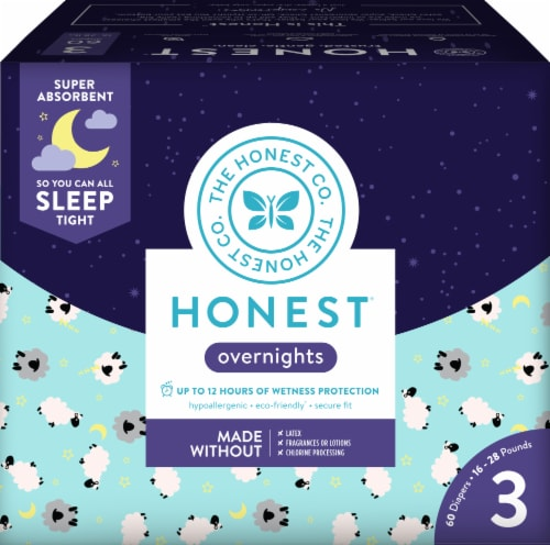 The Honest Co. Overnights Size 3 Diapers Perspective: front