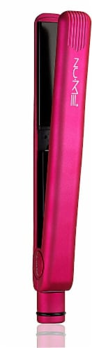 NuMe Fashionista Straightener Professional Pink Flat Iron Perspective: front