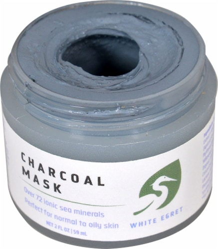 White Egret  Charcoal Mask Perspective: front