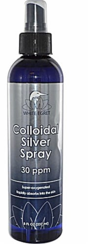White Egret  Colloidal Silver Spray Perspective: front