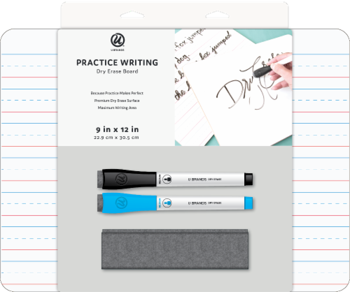 U Brands Practice Writing Dry Erase Board Perspective: front