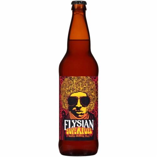 Elysian Super Fuzz Blood Orange Pale Ale Perspective: front