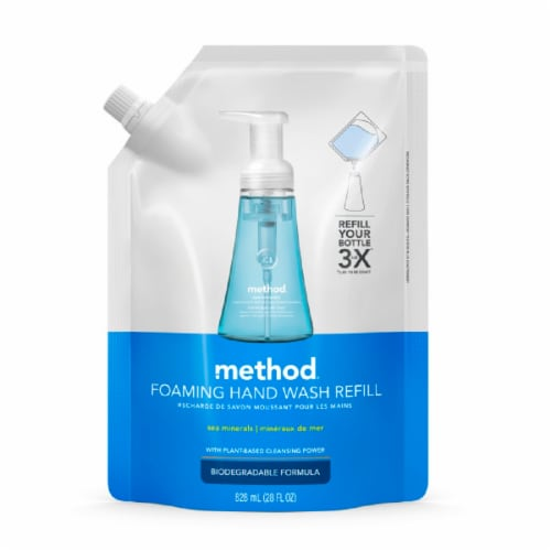 Method Sea Mineral Foaming Hand Wash Refill Pouch Perspective: front