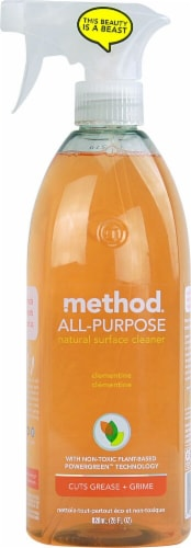 Method All Purpose Natural Surface Cleaning Spray Clementine Perspective: front