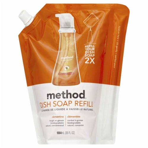 Method Clementine Dish Soap Refill Perspective: front