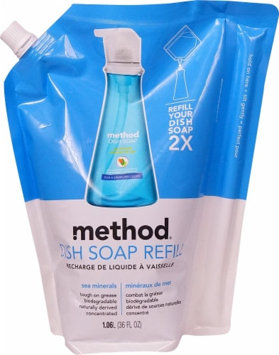 Method  Dish Soap Refill Sea Minerals Perspective: front