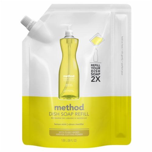 Method Lemon Mint Dish Soap Refill Perspective: front