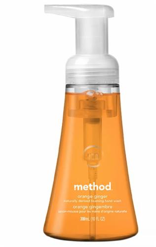 Method Orange Ginger Foaming Hand Wash Perspective: front