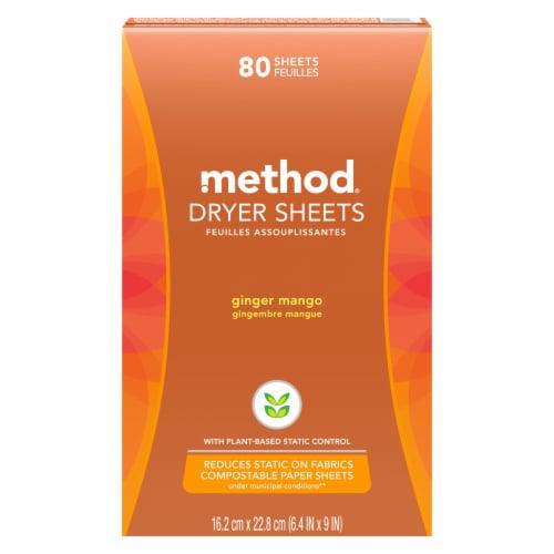 Method Ginger Mango Dryer Sheets Perspective: front