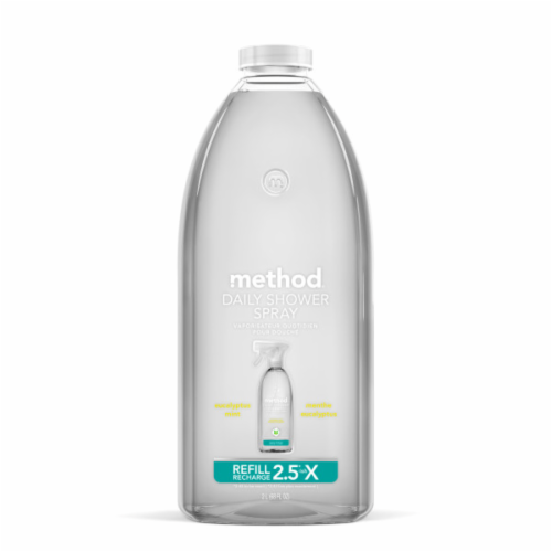 Method Eucalyptus Mint Daily Shower Spray Cleaner Refill Perspective: front