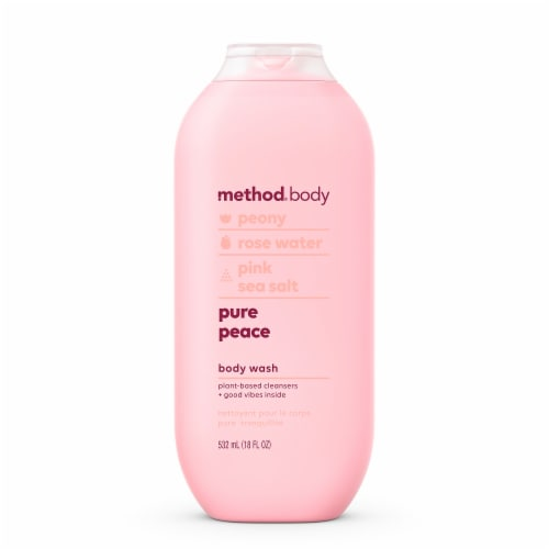 Method Body Peony Rose Water & Pink Sea Salt Pure Peace Body Wash Perspective: front