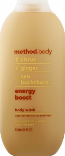 Method Citrus Ginger & Sea Buckthorn Body Wash Perspective: front