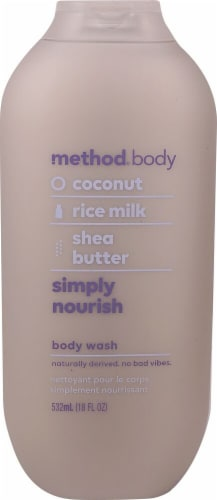 Method Body Coconut Rice Milk & Shea Butter Simply Nourish Body Wash Perspective: front