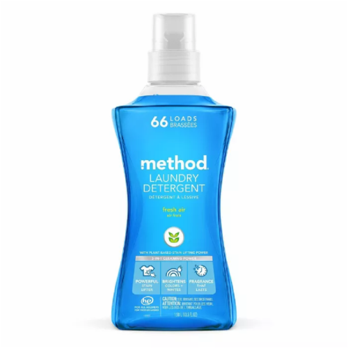 Method 4X Concentrated 66 Loads Fresh Air Laundry Detergent Perspective: front