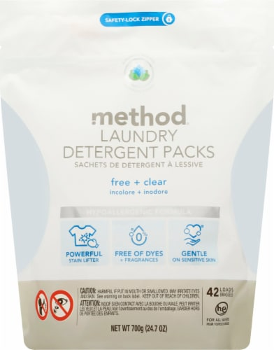 Method Free & Clear Laundry Detergent Packs Perspective: front