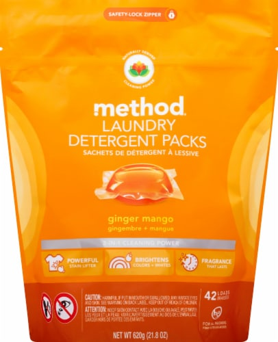 Method Ginger Mango Laundry Detergent Packs Perspective: front