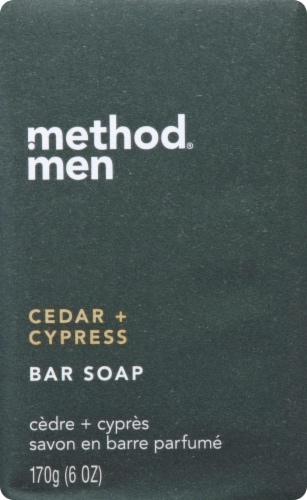 Method Men's Cedar & Cypress Bar Soap Perspective: front