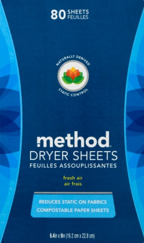 Method Fresh Air Dryer Sheets Perspective: front