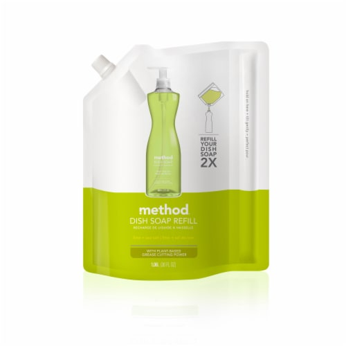 Method Lime & Sea Salt Dish Soap Refill Perspective: front