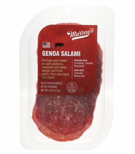 Murray's® Genoa Sliced Salami Perspective: front