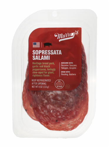 Murray's® Sopressata Sliced Salami Perspective: front