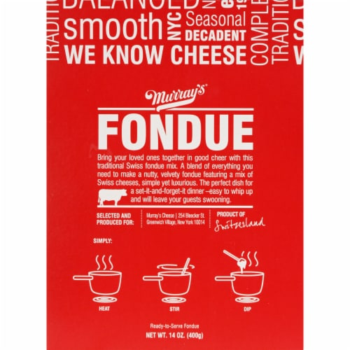 Murray's Original Cheese Fondue Perspective: front