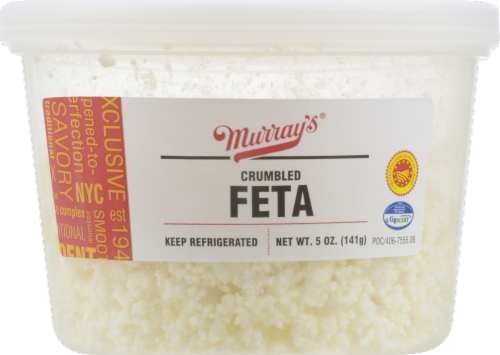 Murray's Crumbled Feta Cheese Perspective: front