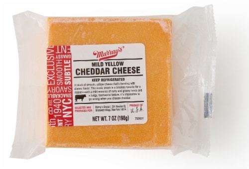 Murray's® Mild Yellow Cheddar Cheese Block Perspective: front