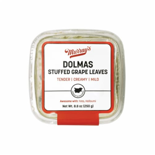 Murray's Dolmas Stuffed Grape Leaves Perspective: front