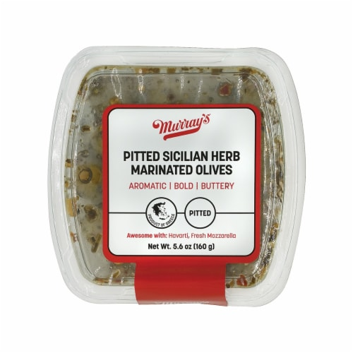 Murray's Pitted Sicilian Herb Marinated Olives Perspective: front