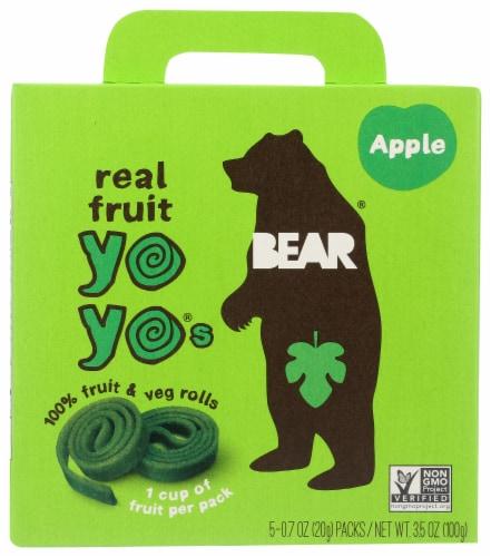 Bear Real Fruit Yoyos Apple Fruit & Veg Rolls Perspective: front