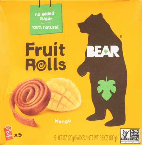 Bear Mango Fruit Rolls Perspective: front