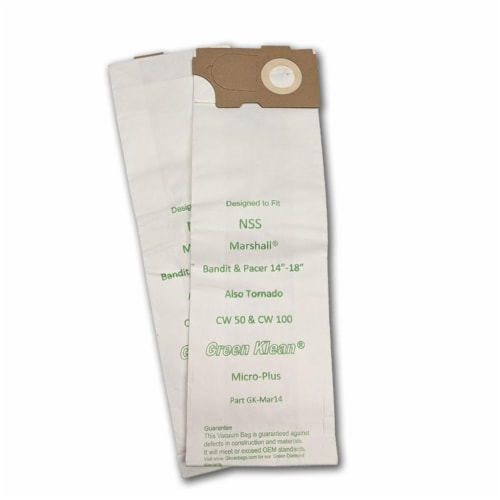 Green Klean GK-Mar14 NSS Marshall 14 by 18 Bandit & Pacer 214 by 218 Replacement Vacuum Bags Perspective: front