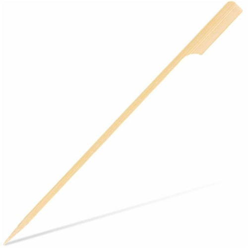 """200 Bamboo Kabob Appetizer BBQ Skewers for Outdoor Grilling, Fondue, Shrimp, 7"""" Perspective: front"""