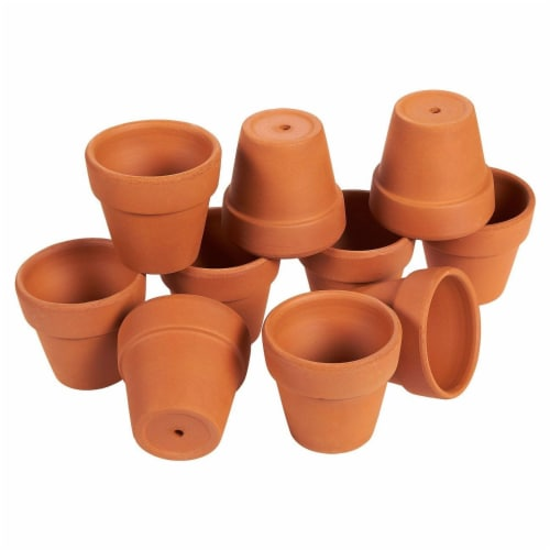 Terra Cotta Pots - 10-Count Terracotta Pots, 2.6-Inch Mini Flower Pots Perspective: front