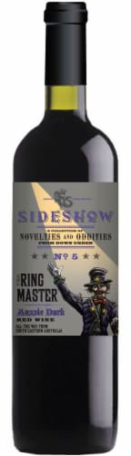 Sideshow The Ring Master Aussie Dark Red Wine Perspective: front