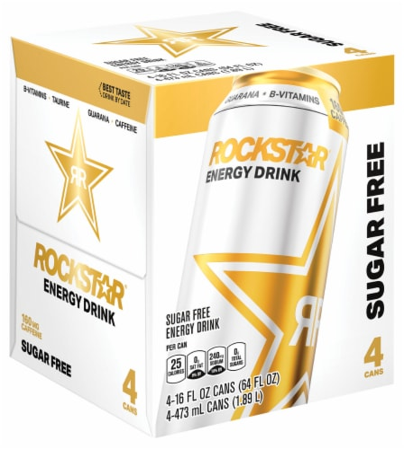 Rockstar Sugar Free Energy Drink Perspective: front